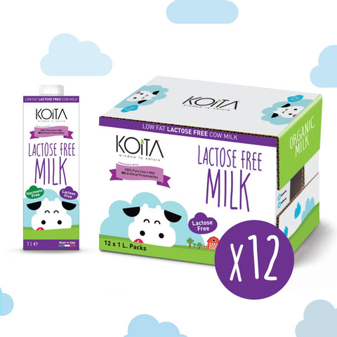 Buy Organic Koita Lactose-Free Non Hormone Milk - Case | QualityFood.ae|Dairy & Cheese |From Italy Online food delivery Dubai Abu Dhabi and Sharjah