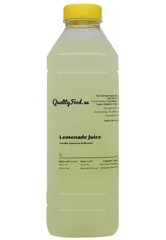 "Fresh Lemonade Juice 1 Litre  ""Sugar Added"""