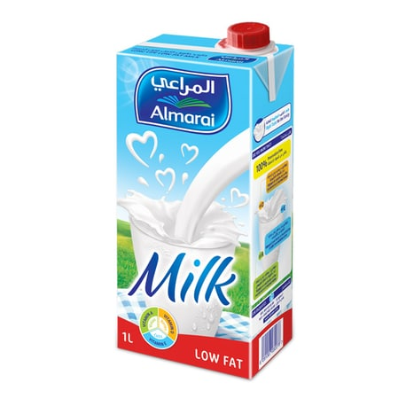 Low Fat UHT Milk 4 x 1L