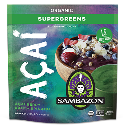 Organic Frozen Acai - Super Greens 400gm