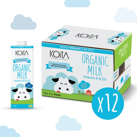 Organic Koita Whole Fat UHT Milk - Case