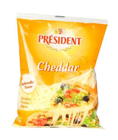 Président Shredded Cheese Cheddar 200gm