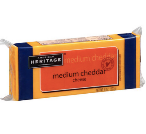 Medium Cheddar Cheese 8oz