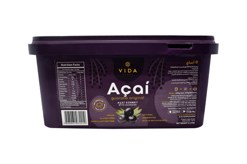 Acai Puree Original with Guarana Scoopable - Frozen 5L Bucket