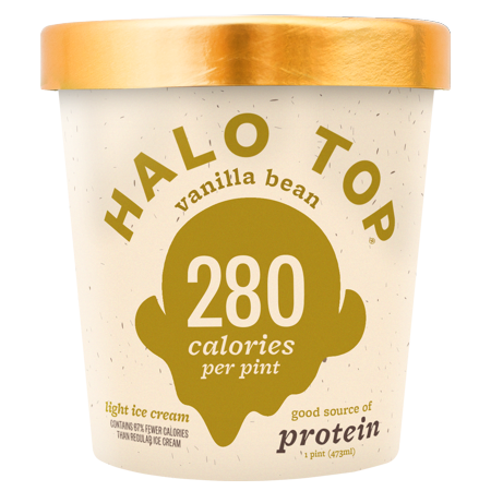 Halo Top Vanilla Bean Low Calorie Ice Cream 473ml