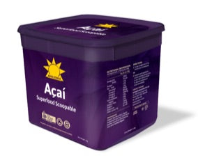 Organic Acai Superfood Scoopable - Frozen 3.2 KG bucket