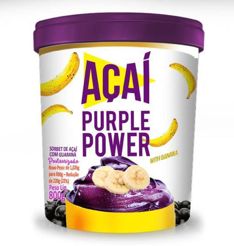 Sorbet Acai Purple Power With Banana