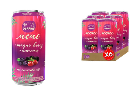 6 Antioxidant Acai Superberry Smoothies 6 Can x 250ml