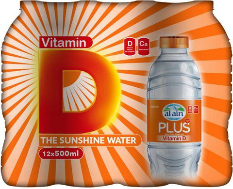 Al Ain Plus Vitamin D Water - Pack of 12 x 500ml