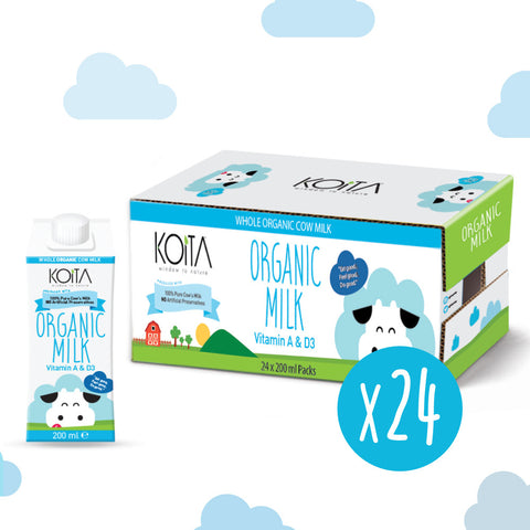 Organic Koita Whole Fat UHT Milk Pack of 24 Pcs (24 x 200ml)