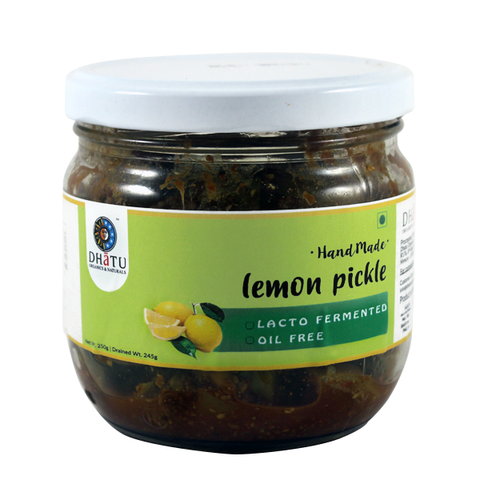 Organic Lemon Pickle (Oil Free)