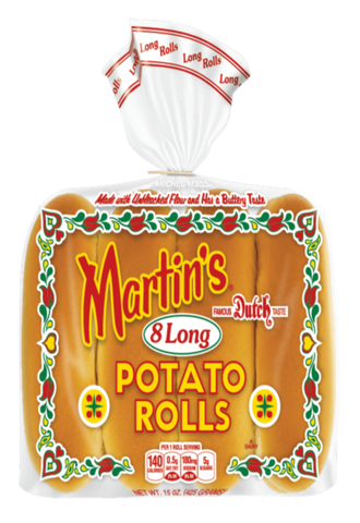 Martin`s Long Potato Rolls - 5.5 inches - Frozen