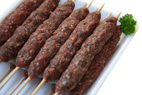 From Australia Meat Lamb Kofta on 6 Skewers ready to grill