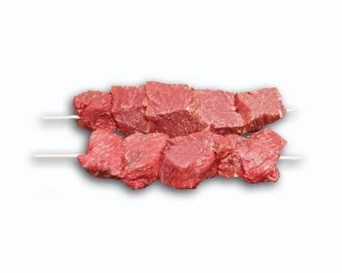 From Australia Meat Striploin 5 skewers marinated -Ready for BBQ