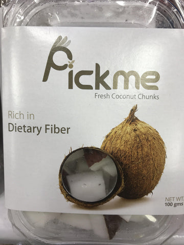 "From India Fruits Fresh Coconut Chunks ""pick me"""