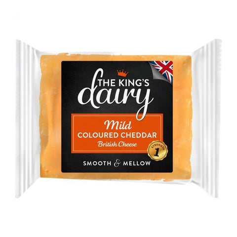 The King's Dairy Mild Coloured Cheddar Cheese 200g - Gluten Free