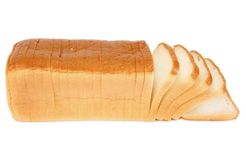 Freshly Baked & Sliced White Sandwich Loaf Bread