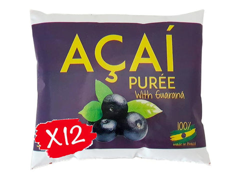 Buy Acai Puree All Natural w/ Guarana 3.6Kg | QualityFood.ae|Energy & Protein |From Brazil Online food delivery Dubai Abu Dhabi and Sharjah