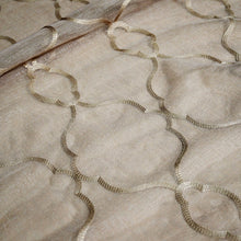 Embroidered Lattice Table Linen