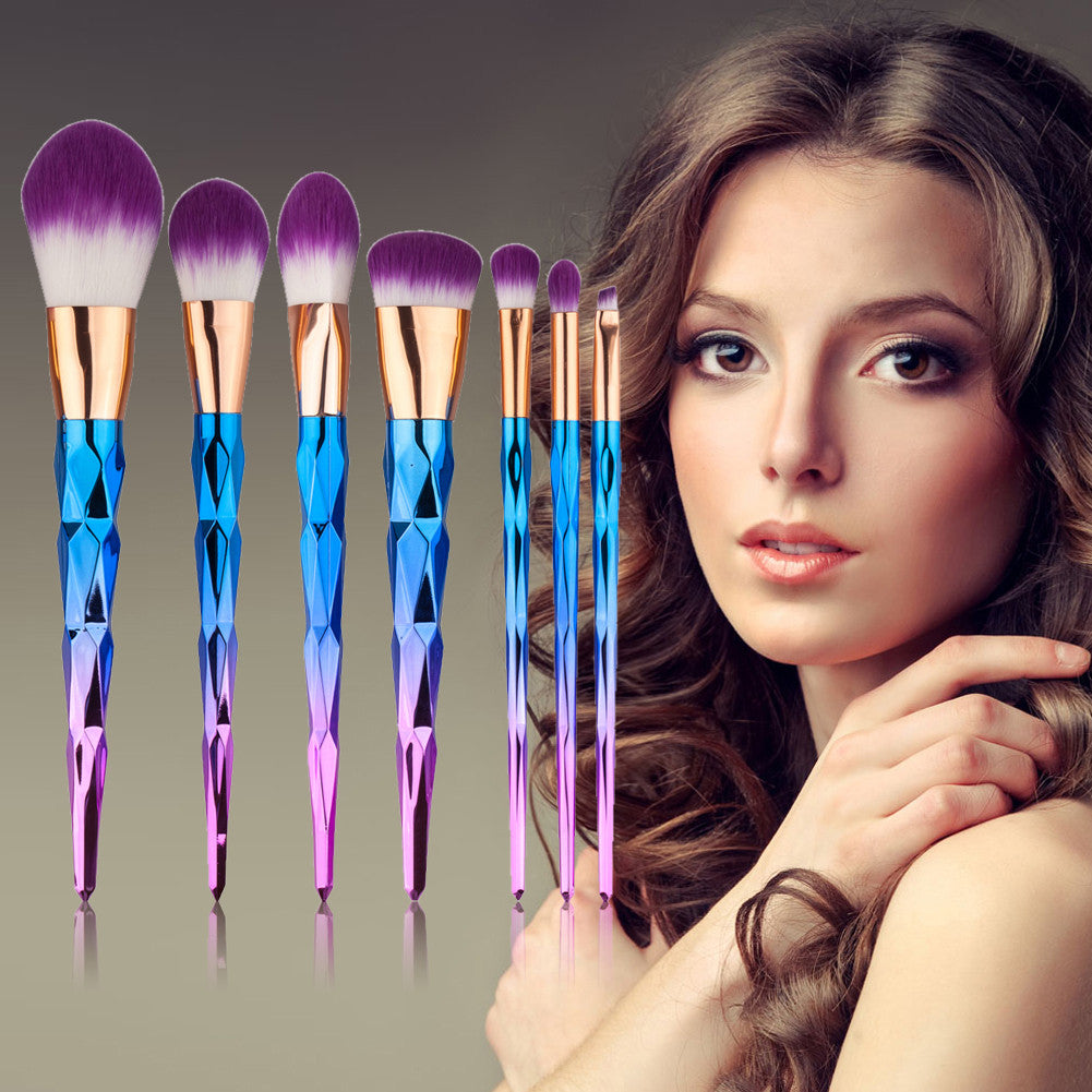 Unicorn Makeup Brushes - 7 Piece Set