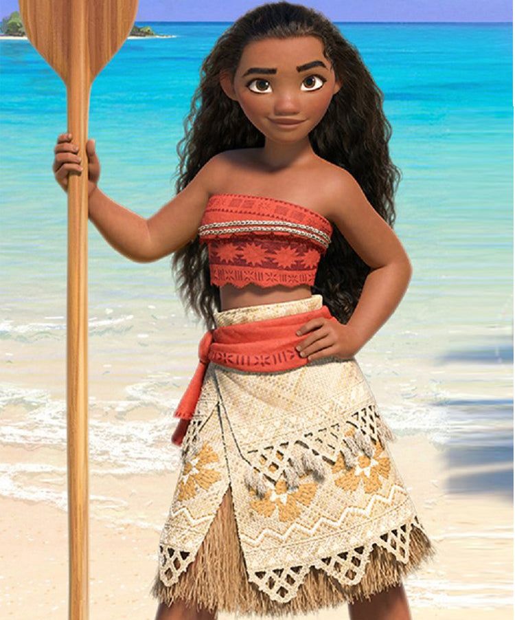 Movie Princess Moana Costume for Kids Moana Princess Dress Cosplay Costume Children Halloween Costume for Girls Party Dress