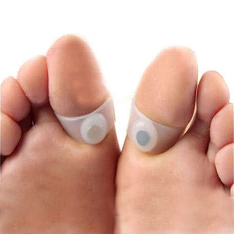 3 Pairs Slimming Silicone Foot Massage Magnetic Toe Ring Fat Weight Loss Health