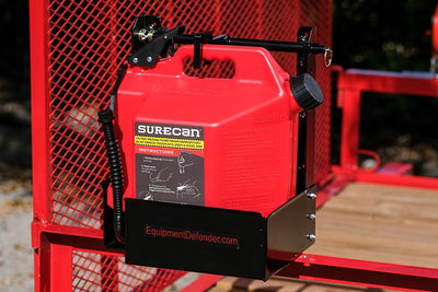Fits Open And Enclosed Trailers - SureCan 5 Gal Gas Can Rack