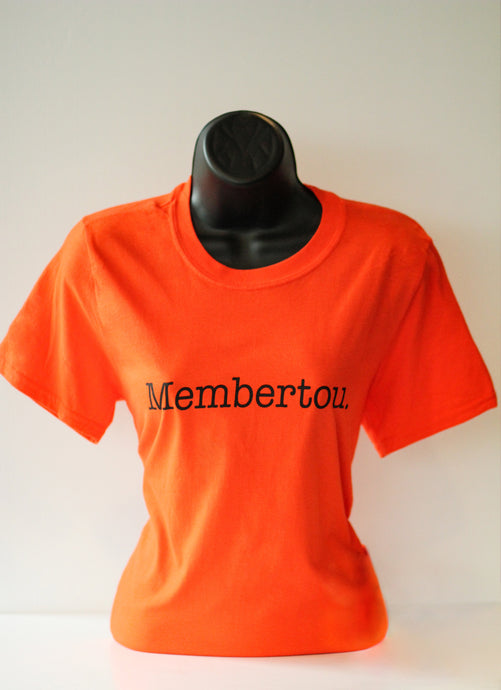 Membertou Tee (orange crew neck)