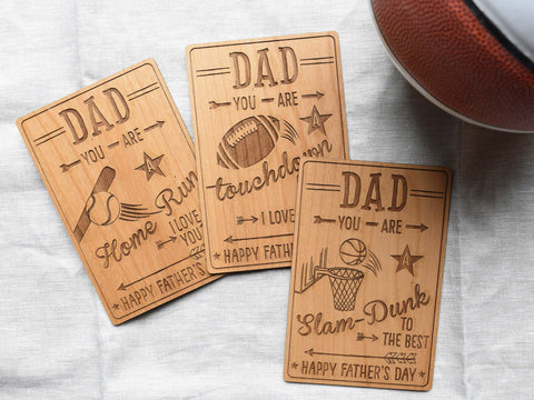 Unique Sports Fan Father's Day CArds