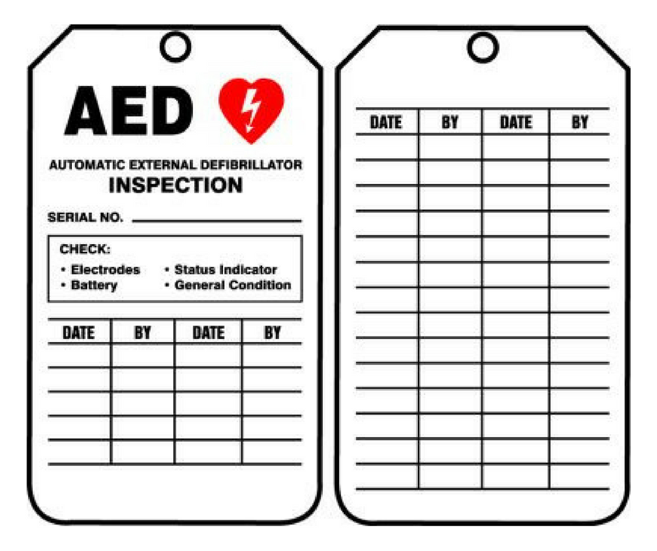 AED Inspection Tags (5/pkg)