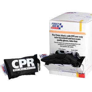 CPR Face Shield w/Latex-Free 1-Way Valve on Keychain