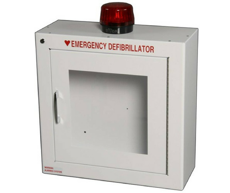 Surface-Mounted AED Wall Cabinet (With Strobe Light and Alarm)