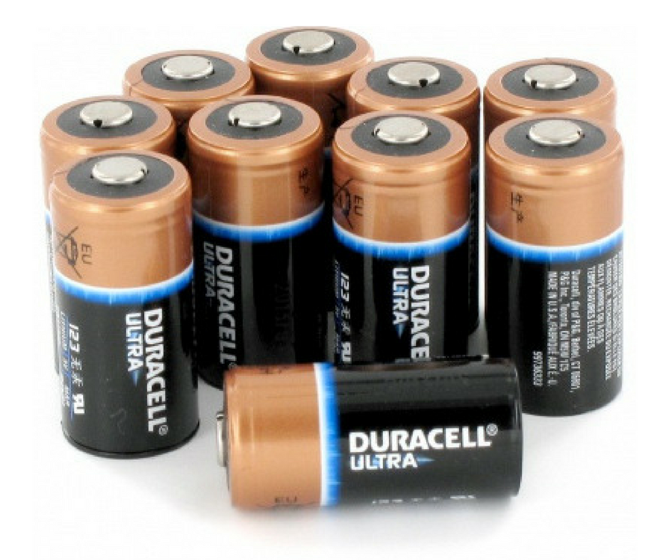 ZOLL AED Plus Replacement Batteries - Duracell Ultra CR123A Lithium Batteries (10/pkg)