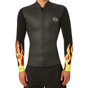Narval Untitled Flame Front Zip Vest  2mm