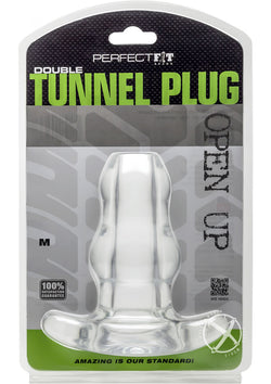 Double Tunnel Plug Medium Clear