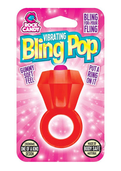 Rock Candy Bling Pop Ring Red