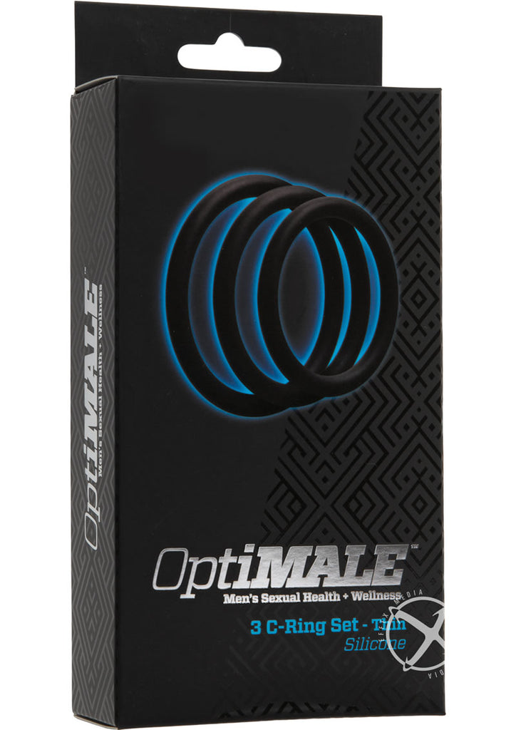 Optimale 3 C-Ring Thin Set Black