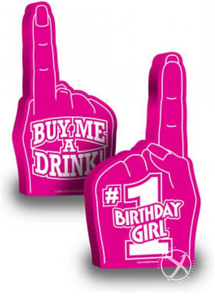 #1 Birthday Girl Foam Finger-Daily Sensations