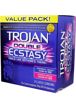 Trojan Double Ecstasy 24 Pk - [product_type ] - Daily Sensations