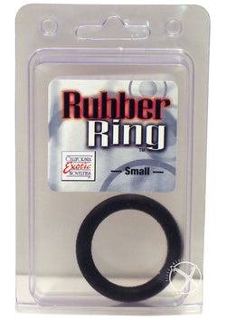 Rubber Cock Ring Small Black