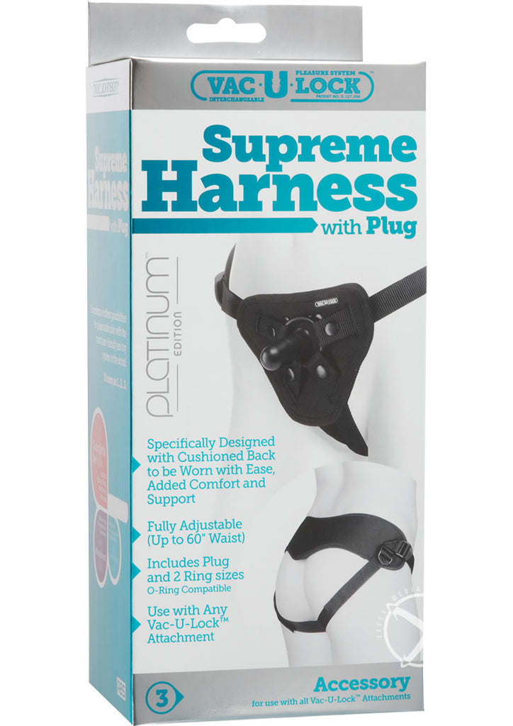 Vac U Lock Platinum Suprem Harness Black