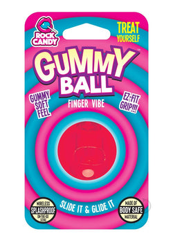 Rock Candy Gummy Ball Blister Red