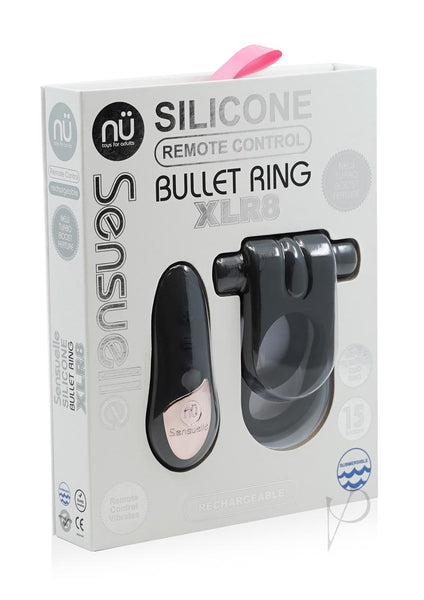 Sensuelle Silic Remote Bullet Ring Blk