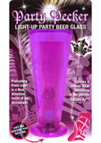 Party Pecker Light Up Beer Glass Purple