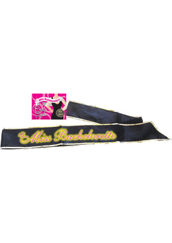 Miss Bachelorette Gitd Sash Black-Daily Sensations