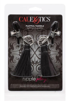 Nipple Play Tassels Nipple Clamp Black