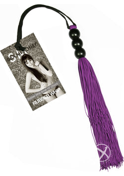 Sandm 10 Small Rubber Whip - Purple-Daily Sensations