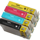 Epson T125 New Compatible Cartridges Value Pack (BK/M/C/Y) T125