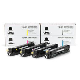 Compatible HP 201X New BK/C/M/Y Toner Cartridge Combo Set (High Yield) + 1 black