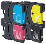 BROTHER Compatible LC61/ LC65 INK / INKJET Cartridge Set Black Cyan Yellow Magenta